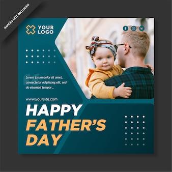 Feliz dia do pai banner social media post