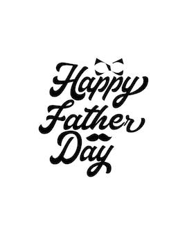 Feliz dia do pai em cartaz de tipografia desenhada à mão