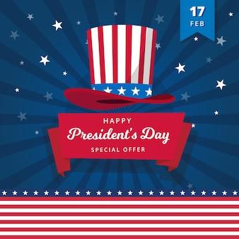 Feliz dia do presidente com oferta especial