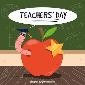 Feliz dia do professor, uma maçã