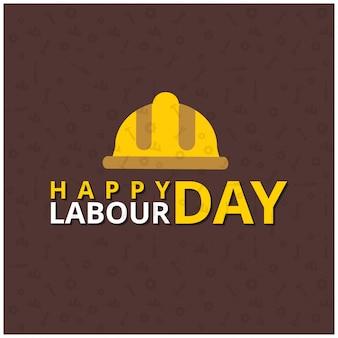 Feliz dia do trabalhador com capacete de trabalhador