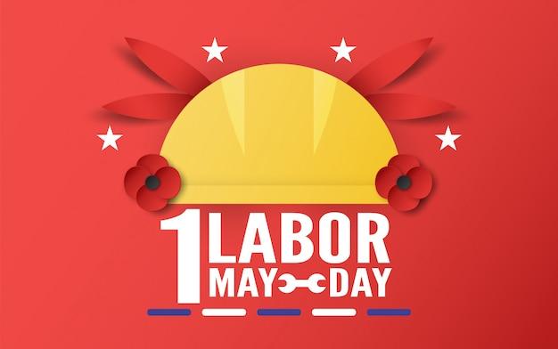 Feliz dia do trabalho em 1 de maio.