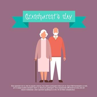 Feliz dia dos avós banner cartão de saudação