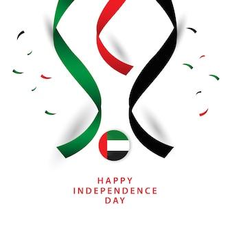 Feliz dia dos emirados árabes unidos independent vector template design