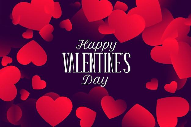 Feliz dia dos namorados adorável corações design