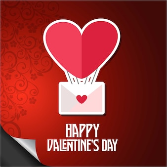 Feliz dia dos namorados balão coração