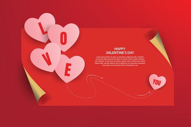 Feliz dia dos namorados banner design. ilustração vetorial