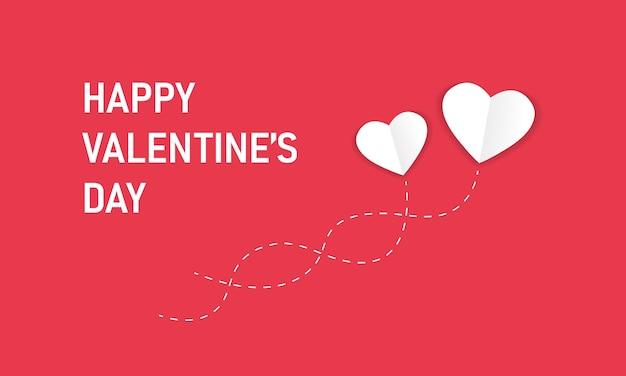 Feliz dia dos namorados banner vector. conceito de sentido único de dois corações. vector eps10