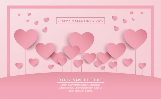 Feliz dia dos namorados banner vector design