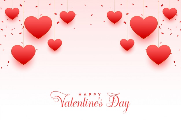 Feliz dia dos namorados cartão bonito corações