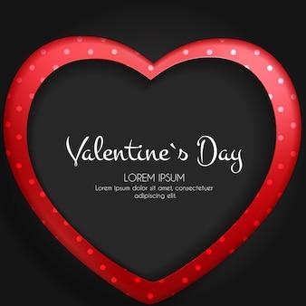 Feliz dia dos namorados cartão com coração.