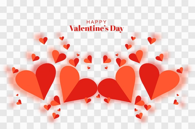 Feliz dia dos namorados cartão com corações