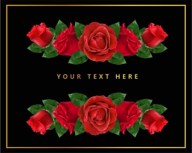Feliz dia dos namorados. cartão com realista de rosa vermelha,