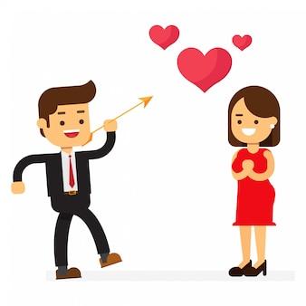 Feliz dia dos namorados casal apaixonado