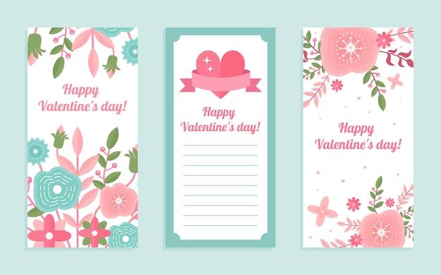 Feliz dia dos namorados, coleção de cartões de amor e romance criativos