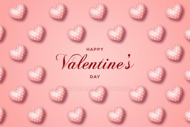 Feliz dia dos namorados com balões de amor