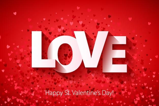 Feliz dia dos namorados com confetes de coração.