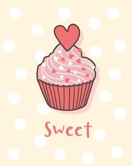 Feliz dia dos namorados com cupcake