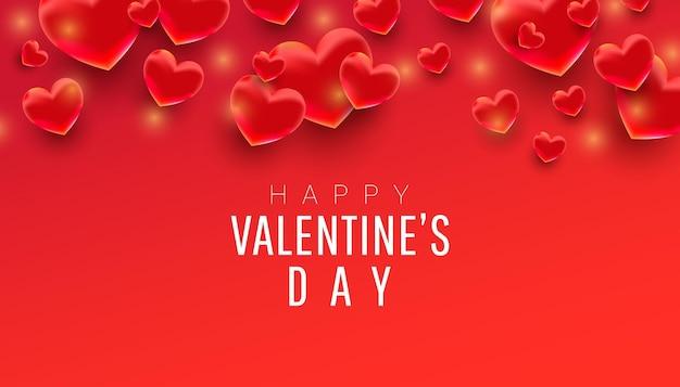 Feliz dia dos namorados com forma de coração em 3d