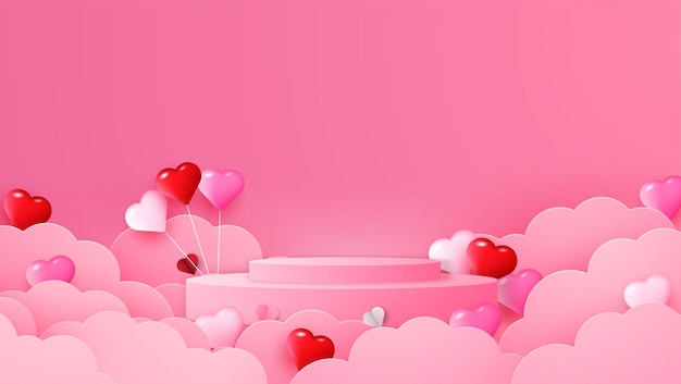 Feliz dia dos namorados com ilustração de corações de papel