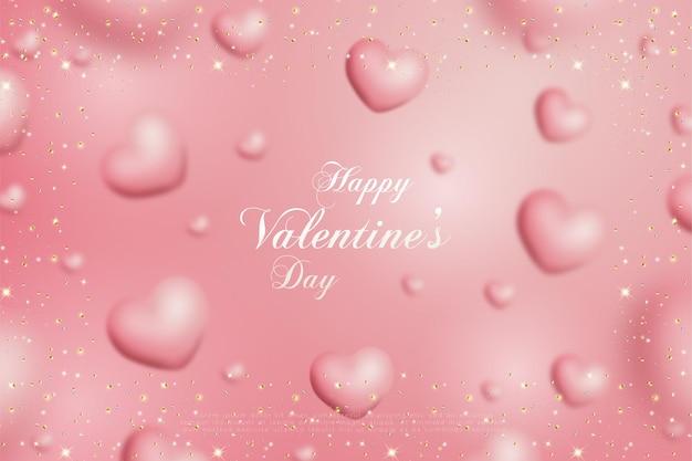 Feliz dia dos namorados com papel rosa com imagem de amor.