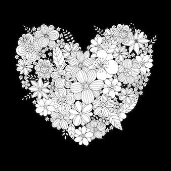 Feliz dia dos namorados com vetor de design de forma de coração