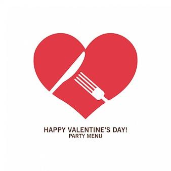 Feliz dia dos namorados, comida adorável