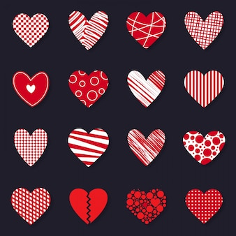 Feliz dia dos namorados conjunto de ícones