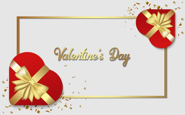 Feliz dia dos namorados de fundo. com ilustração de uma caixa de presente em forma de amor.
