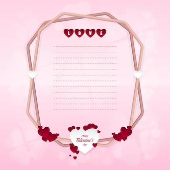 Feliz dia dos namorados e elementos de design em forma de coração Vetor Premium