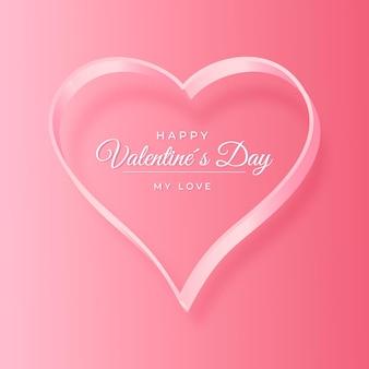 Feliz dia dos namorados fundo com coração
