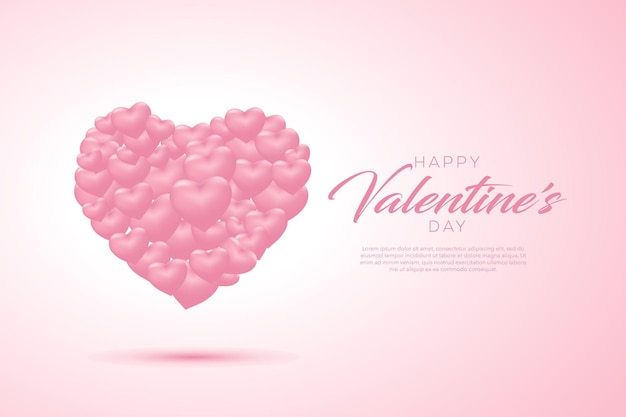 Feliz dia dos namorados, fundo com corações
