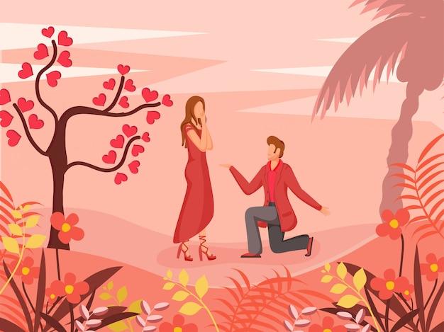 Feliz dia dos namorados ilustração