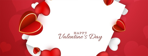 Feliz dia dos namorados lindo banner de amor