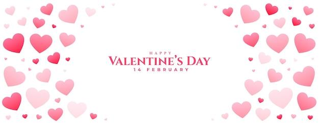 Feliz dia dos namorados lindo coração banner design