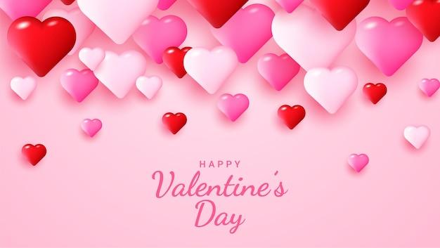 Feliz dia dos namorados lindo fundo com corações