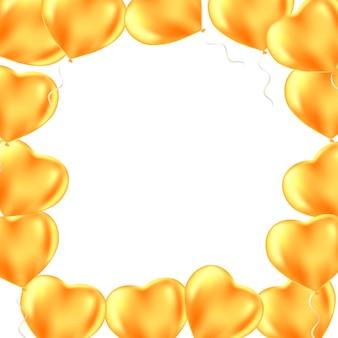 Feliz dia dos namorados. moldura de balões de festa geada