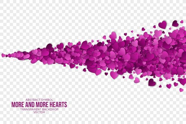 Feliz dia dos namorados papel corações abstrato