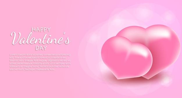 Feliz dia dos namorados saudação texto com corações