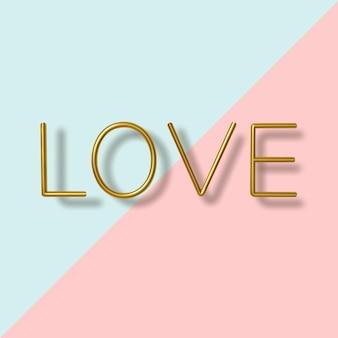 Feliz dia dos namorados, texto metálico dourado realista sobre fundo azul