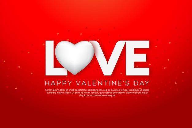 Feliz dia dos namorados tipografia com corações