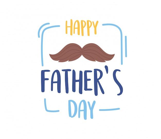 Feliz dia dos pais, bigode decoração festa de confraternização