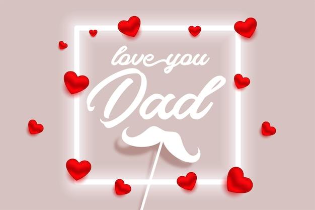 Feliz dia dos pais bonito design de cartão de felicitações