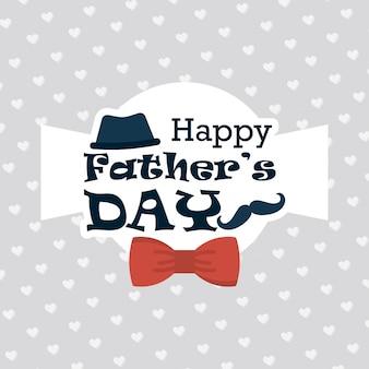 Feliz dia dos pais cartão com fundo padrão