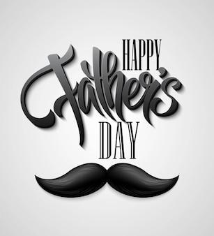 Feliz dia dos pais cartão de bigode.