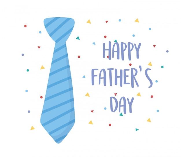 Feliz dia dos pais, cartão de celebração acessório confete gravata