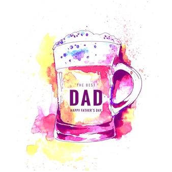 Feliz dia dos pais cartão de celebração