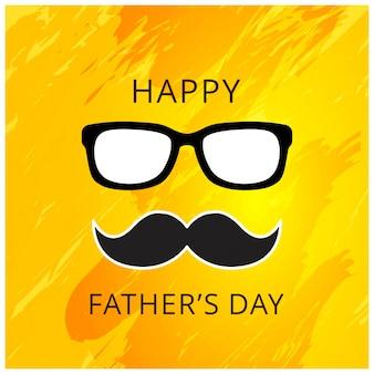 Feliz dia dos pais cartão ilustração vetorial