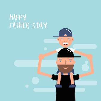 Feliz dia dos pais cartão.