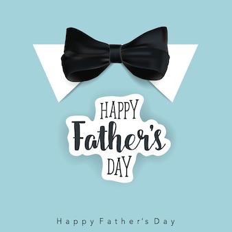 Feliz dia dos pais com gravata borboleta fundo